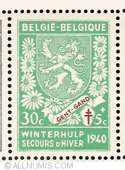 Image #1 of 30 + 5 Centimes 1941 - Gent