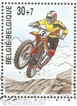 Image #1 of 30 + 7 Francs 1999 - Motocross