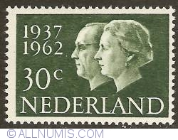 Imaginea #1 a 30 Cent 1962 - Silver Wedding Jubilee of the Royal Couple