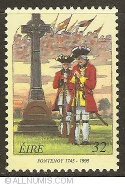 Imaginea #1 a 32 Pence 1995 - Battle of Fontenoy
