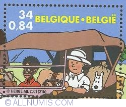 Image #1 of 34 Francs / 0.84 Euro 2001 - Tintin
