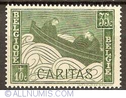 Image #1 of 35+10 Centimes 1927 - Caritas - Boat