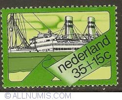 Image #1 of 35 + 15 Cent 1973 - SS Veendam