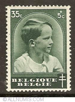 35 + 5 Centimes 1936 - Prince Baudouin