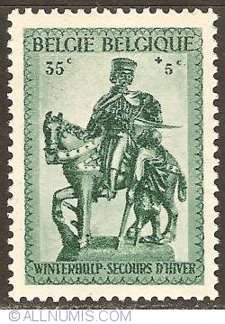 Image #1 of 35 + 5 Centimes 1941 - Winter Help - St. Martin