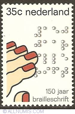 Image #1 of 35 Cent 1975 - 150th Anniversary of Braille