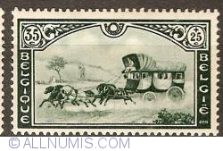 Image #1 of 35 + 25 Centimes 1935 - Post Carriage