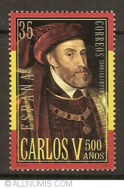 Image #1 of 35 Pesetas 2000 - Charles V