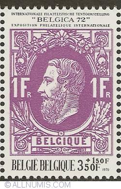 Image #1 of 3,50 + 1,50 Francs 1970 - Belgica '72