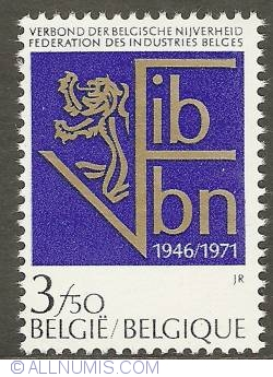 Image #1 of 3,50 Francs 1971 - Union of Belgian Industry