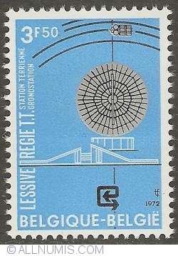 Image #1 of 3,50 Francs 1972 - Lessive - Belgian ground station for telecommunication satellites