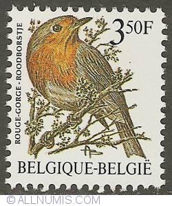 Image #1 of 3,50 Francs 1986 - European Robin