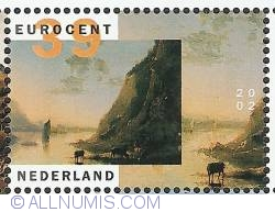 Image #1 of 39 Euro Cent 2002 - Aelbert Cuyp - Riverbank with Cows