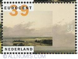Image #1 of 39 Euro Cent 2002 - Andreas Schelfhout - Landscape in Normandy