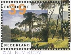 Image #1 of 39 Euro Cent 2002 - Hendrik Voogd - Italian Landscape with Umbrella Pines
