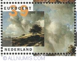 Image #1 of 39 Euro Cent 2002 - Jacob van Ruisdael - The Corn Field