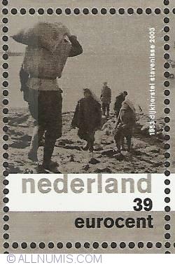 Imaginea #1 a 39 Eurocent 2003 - Dike Repair Stevenisse 1953