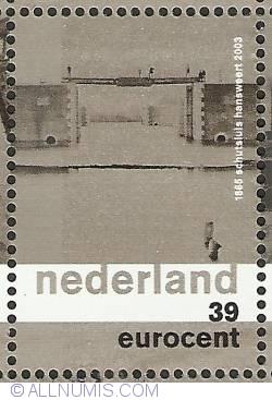 Imaginea #1 a 39 Eurocent 2003 - Hansweert - Sash Lock 1865