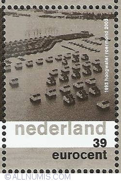 Imaginea #1 a 39 Eurocent 2003 - High Tide on the Meuse River in Roermond 1993