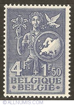 Image #1 of 4+1,50 Francs 1953 - European Office for Youth and Children