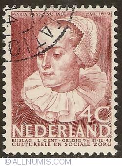 4 + 2 Cent 1938 - Maria Tesselschade Roemersdochter Visscher