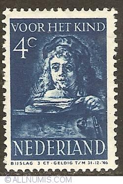 4 + 3 Cent 1941 - Rembrandt's son Titus