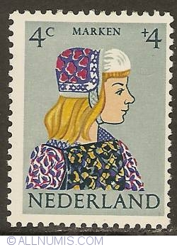 Image #1 of 4 + 4 Cent 1960 - Costume of Marken