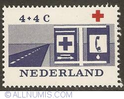 Image #1 of 4 + 4 Cent 1963 - Red Cross Help Post