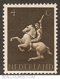 Image #1 of 4 Cent  1943 - German Symbols - Horse Rider