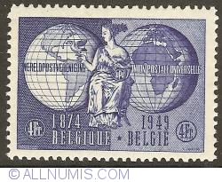 Imaginea #1 a 4 Francs 1949 - Universal Post Union