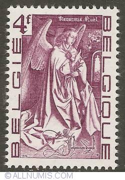 Image #1 of 4 Francs 1974 - Christmas - Archangel Gabriel