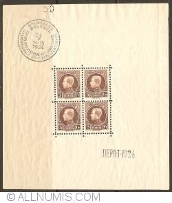 Image #1 of 4 x 5 Francs 1924 - International Philatelistic Show Brussels Souvenir Sheet