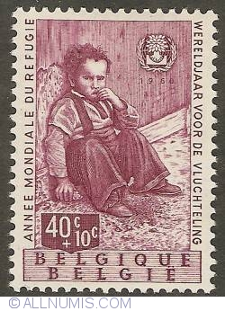 Image #1 of 40 + 10 Centimes 1960 - World Refugee Year