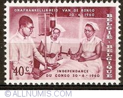 Image #1 of 40 Centimes 1960 - Congo independence - Blood Transfusion