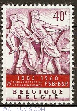 Image #1 of 40 Centimes 1960 - Monument of Labour