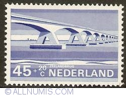Imaginea #1 a 45 + 20 Cent 1968 - Zeeland Bridge (Oosterschelde Bridge)