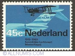 Image #1 of 45 Cent 1968 - KLM Royal Dutch Airlines