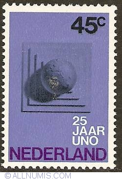 Image #1 of 45 Cent 1970 - 25th Anniversary of U.N.O.