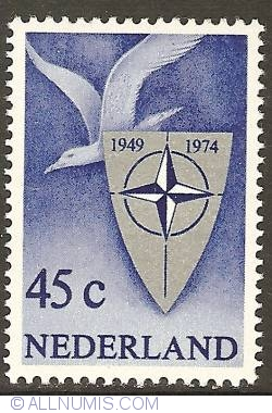 Image #1 of 45 Cent 1974 - 25th Anniversary of NATO