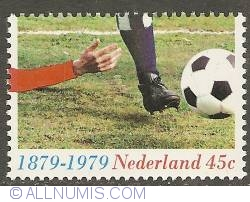 Image #1 of 45 Cent 1979 - 100 Years of Soccer in the Netherlands