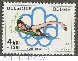 Image #1 of 4,50 + 1,50 Francs 1976 - Swimming