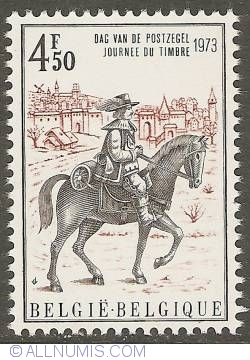 Image #1 of 4,50 Francs 1973 - Postman of the Thurn and Tassis Post Service