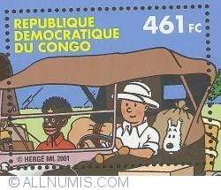 Image #1 of 461 Francs Congolais 2001 - Tintin