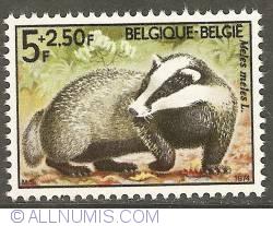 Image #1 of 5 + 2,50 Francs 1974 - European Badger