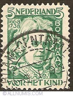5 + 3 Cent 1928 - Herman Boerhaave