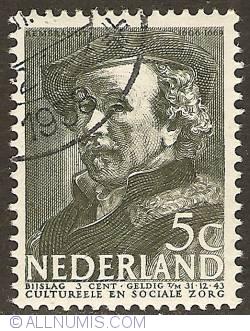 Imaginea #1 a 5 + 3 Cent 1938 - Rembrandt van Rhijn