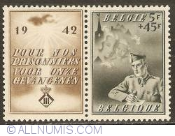 Image #1 of 5 + 45 Francs 1942 - For the Prisoners-of-War - with tab