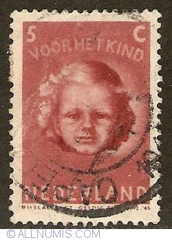 Image #1 of 5 + 5 Cent 1945 - Child's Head