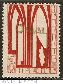 Image #1 of 5 + 5 Centimes 1928 - Orval Abbey