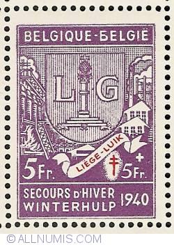 Image #1 of 5 + 5 Francs 1941 - Liège
